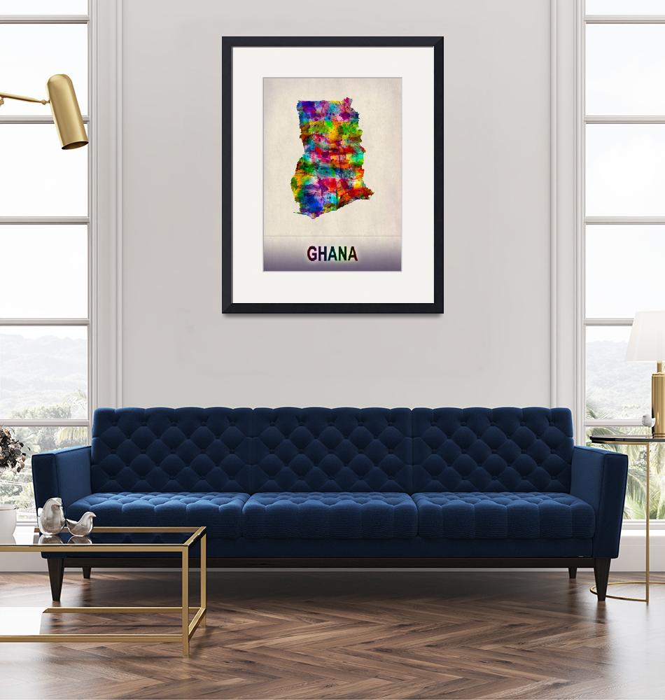 """""""Ghana Map""""  by Towseef"""