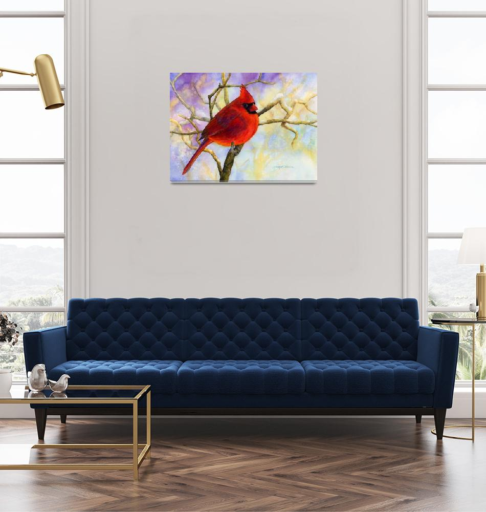 """Northern Cardinal""  (2013) by HaileyWatermedia"