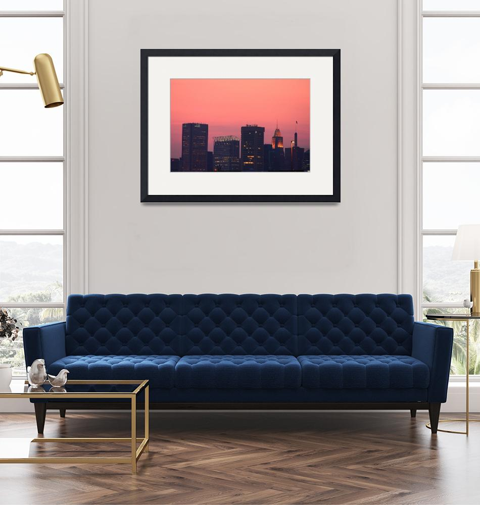 """""""A Baltimore Sunset""""  (2008) by robbdee40"""