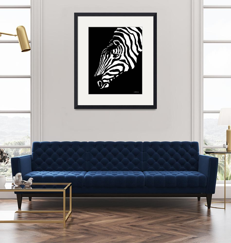 """Zebra Art""  by waterart"
