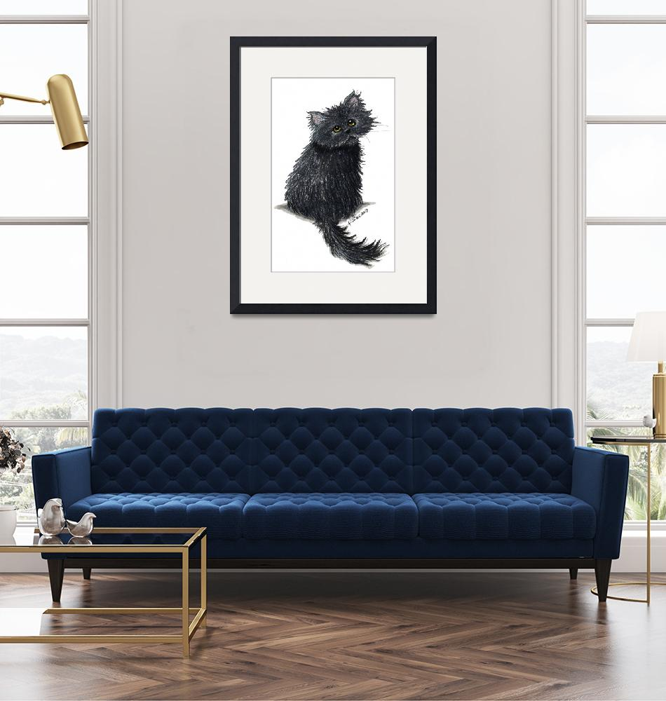 """Black Persian Cat"" (2007) by KiniArt"