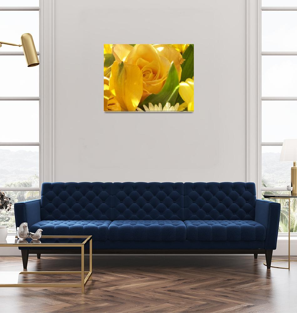 """""""Yellow Rose""""  (2010) by AnthroArt"""