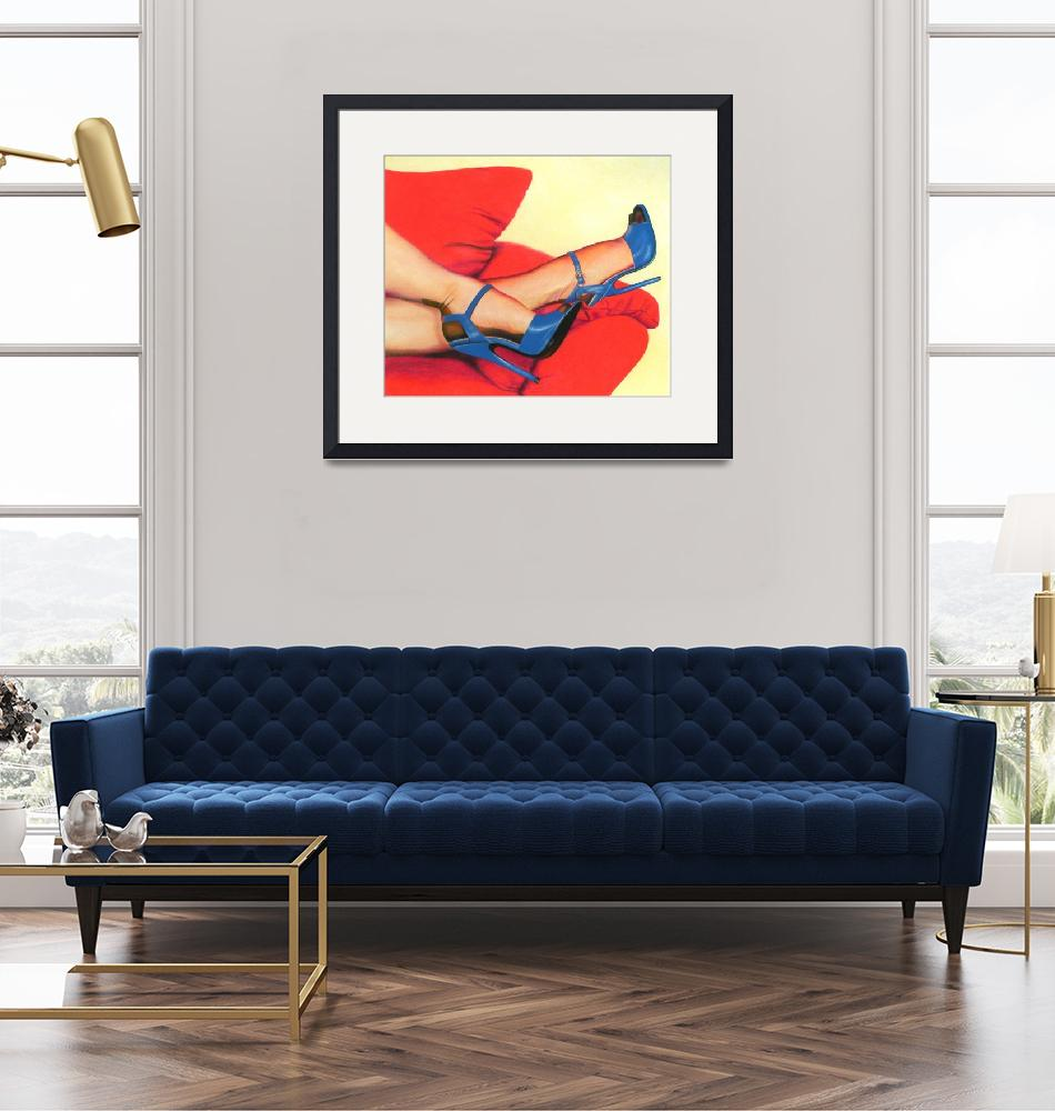 """""""Blue Heels, Red Couch""""  (2010) by sinish"""