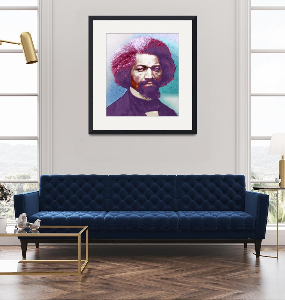 """""""Frederick Douglass Painting In Color Pop Art""""  (2015) by RubinoFineArt"""