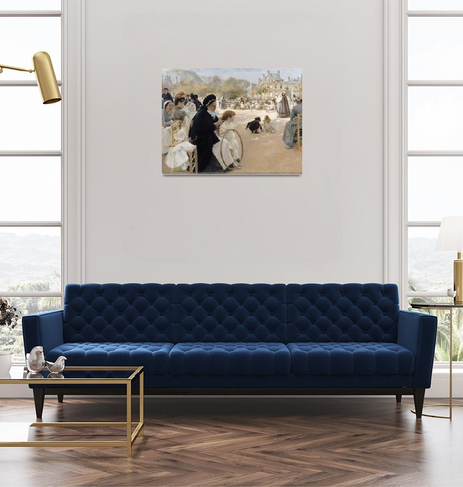 """Albert Edelfelt~The Luxembourg Gardens, Paris""  by Old_master"