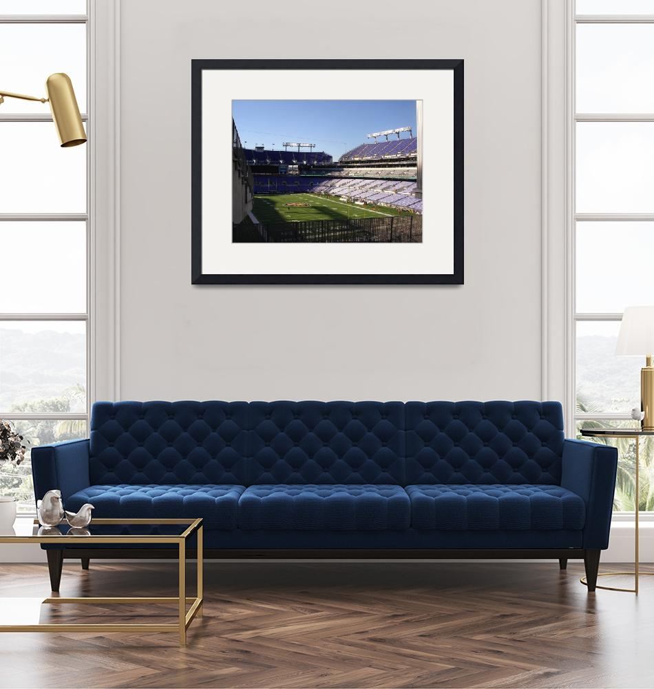 """M & T Bank Stadium (Baltimore Ravens Football), Ma"" by Artsart"