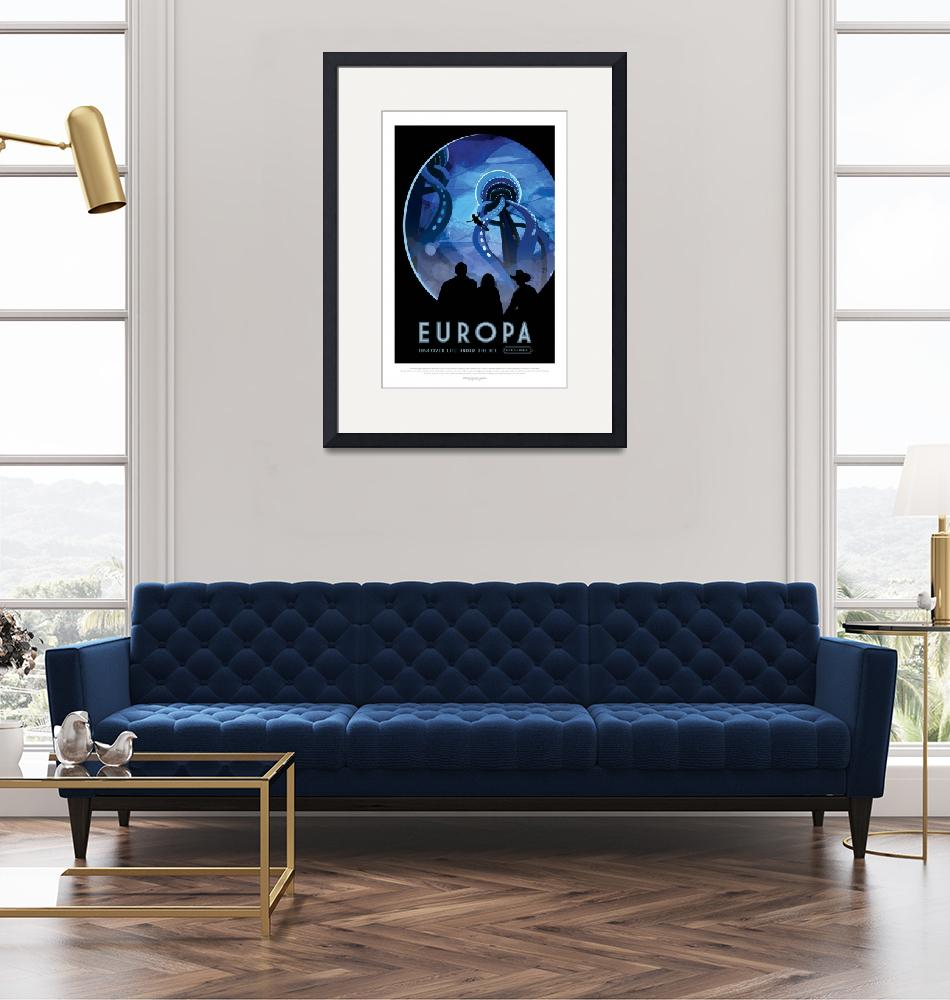 """""""NASA Europa Space Travel Poster""""  by FineArtClassics"""