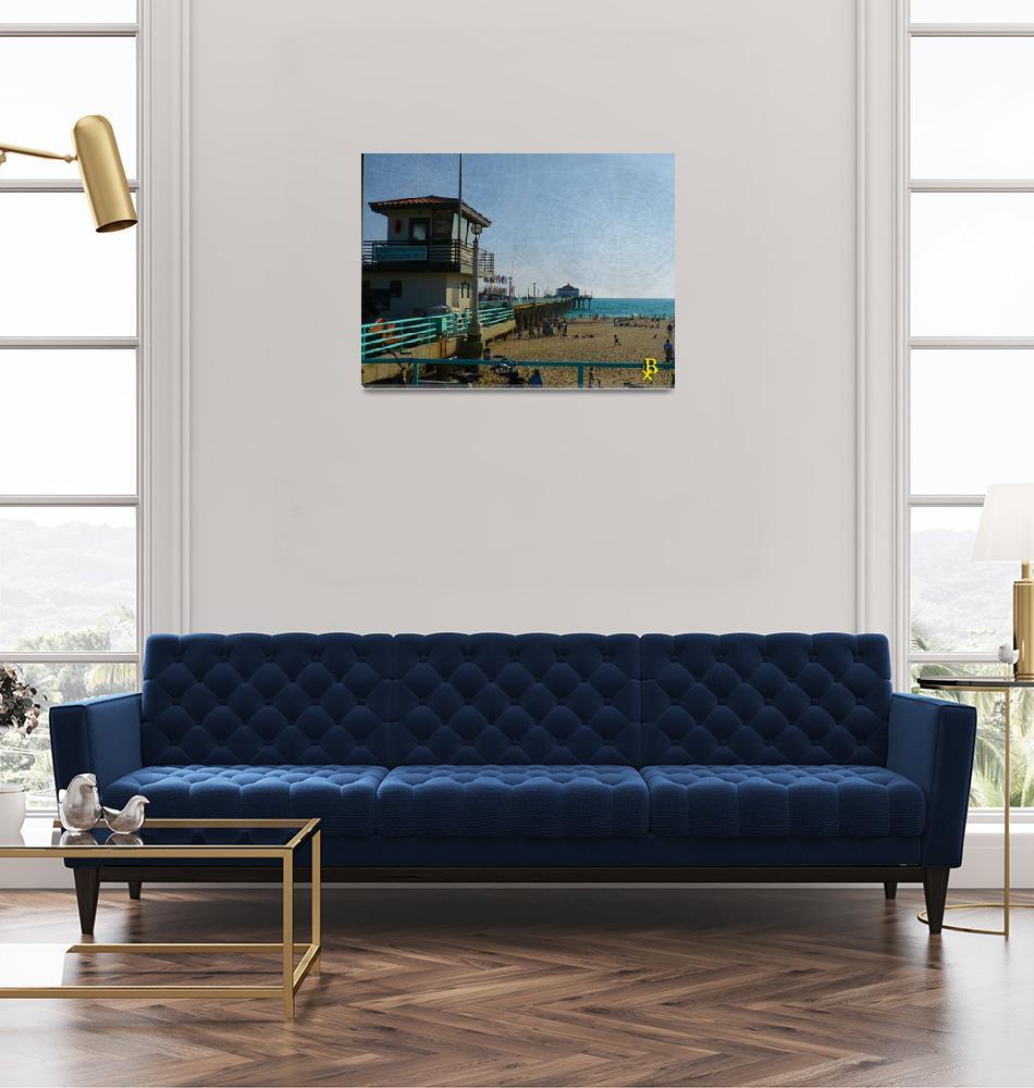 """""""Manhattan Beach Pier""""  (2019) by JJBarmettler"""