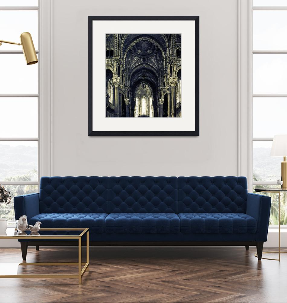 """""""Lyon Cathedral""""  (2005) by donnjones"""