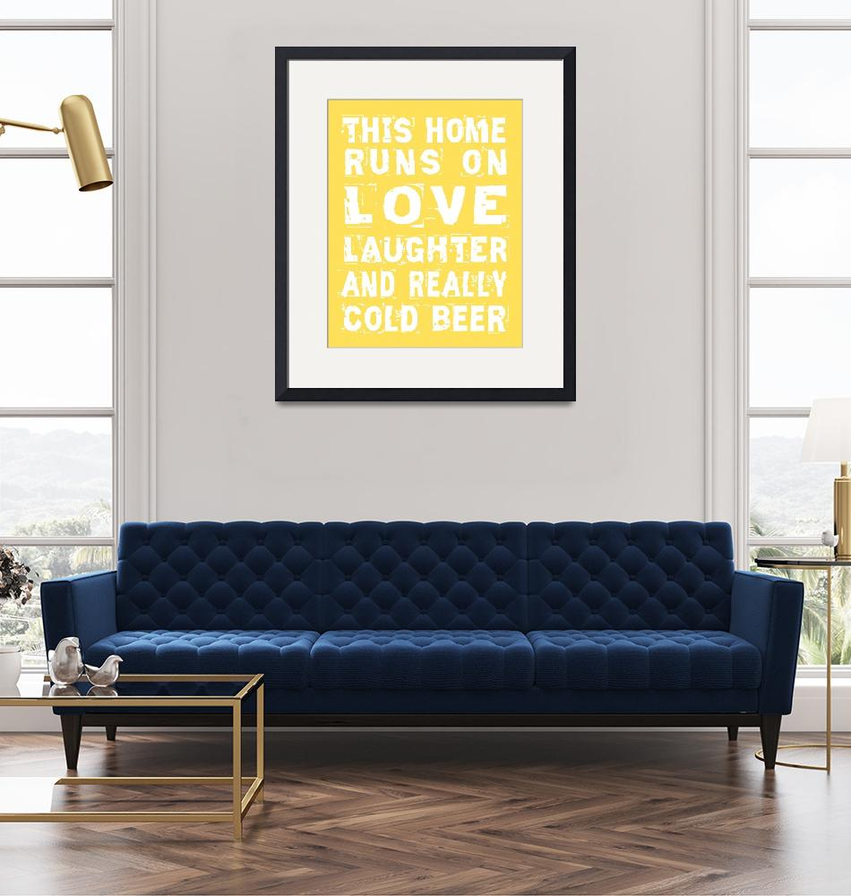 """""""Love and Cold Beer Poster""""  (2012) by FriedmanGallery"""