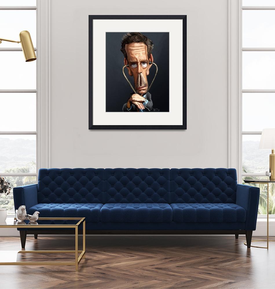 """""""House-Md-Caricature""""  (2006) by nelson"""