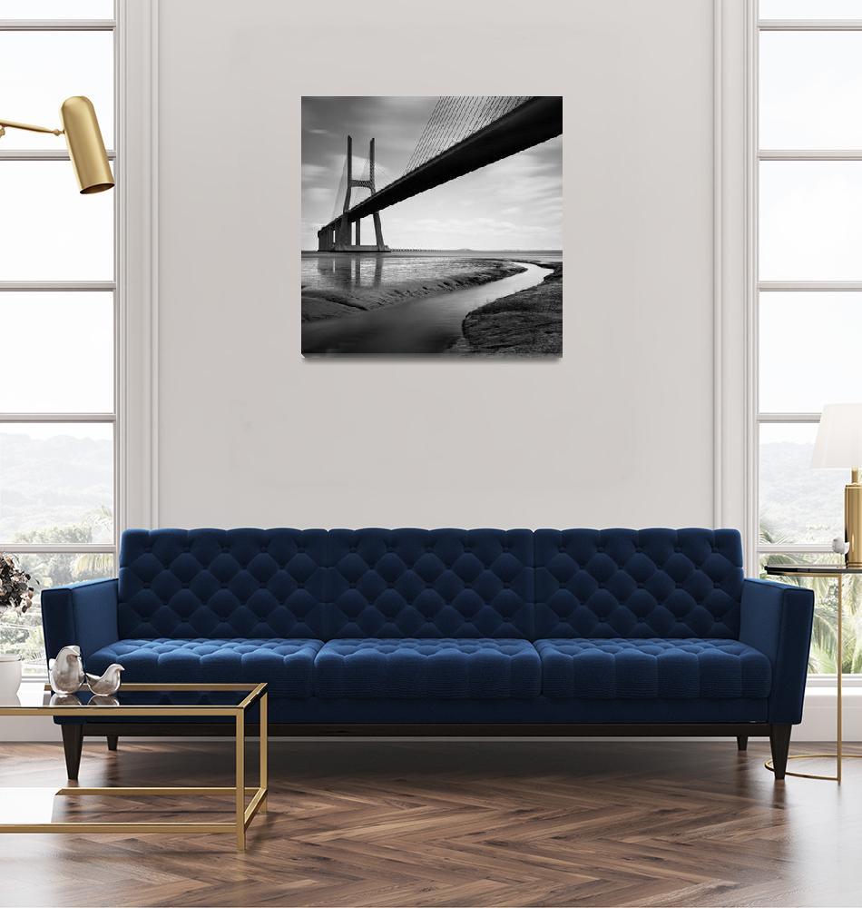 """Vasco da Gama Bridge #01""  (2012) by sensorfleck"