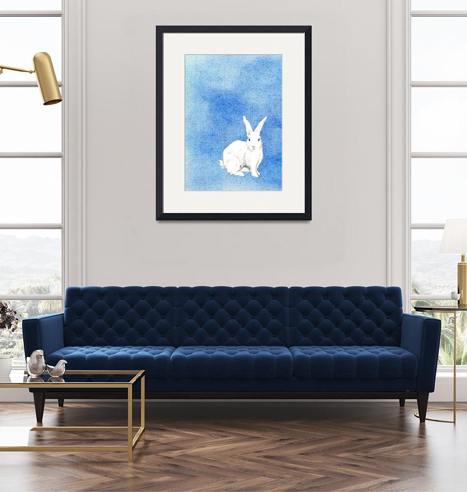"""Rabbit Blue""  (2008) by floatinglemons"