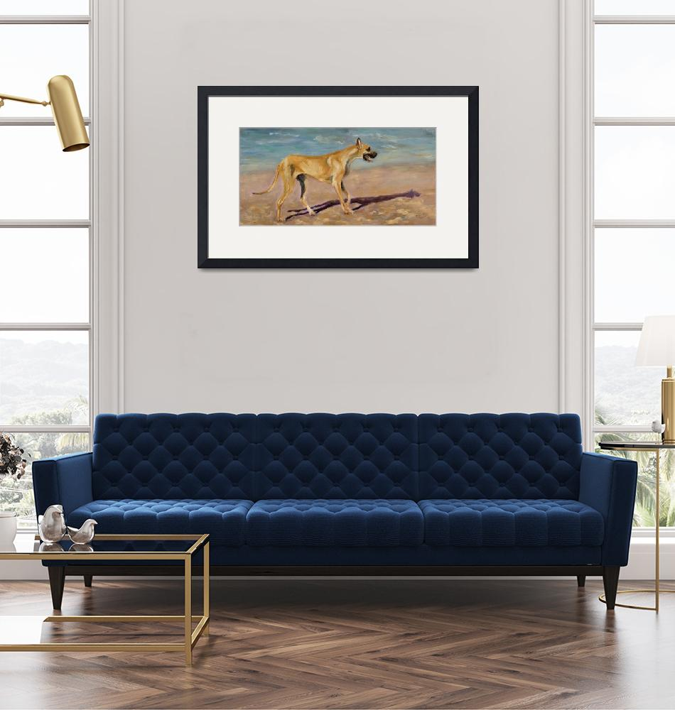 """""""great dane painting""""  by richartist"""