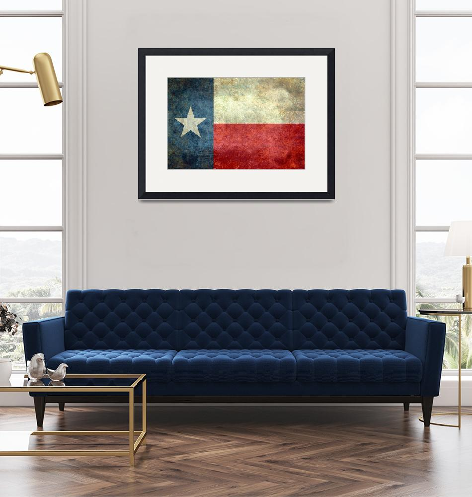 """""""The """"Lone Star Flag"""" of Texas""""  (2013) by BruceStanfieldArtist"""