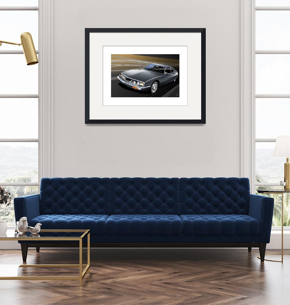 """""""C:\fakepath\Citroen SM poster flat""""  (2012) by Auto-Graphics"""