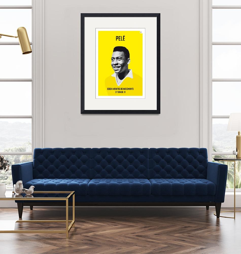 """My PELE soccer legend poster""  by Chungkong"