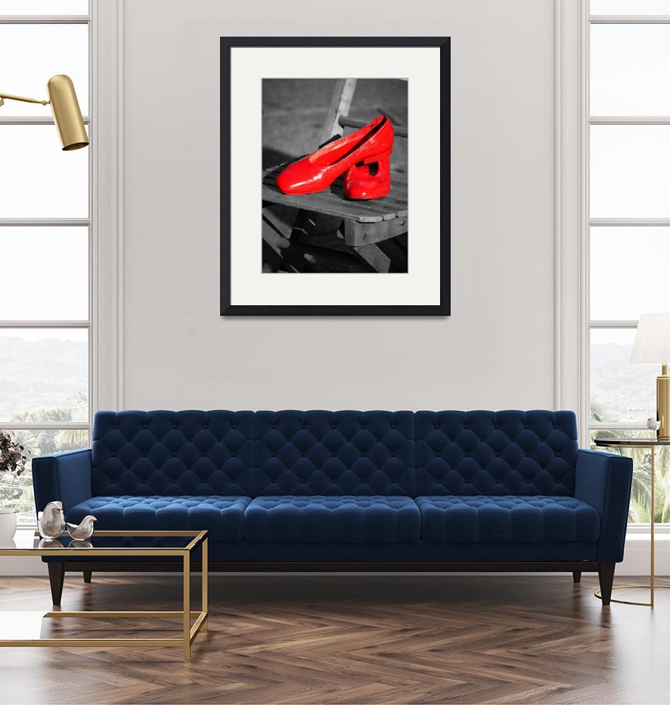 """""""Red Slippers""""  (2013) by raetucker"""