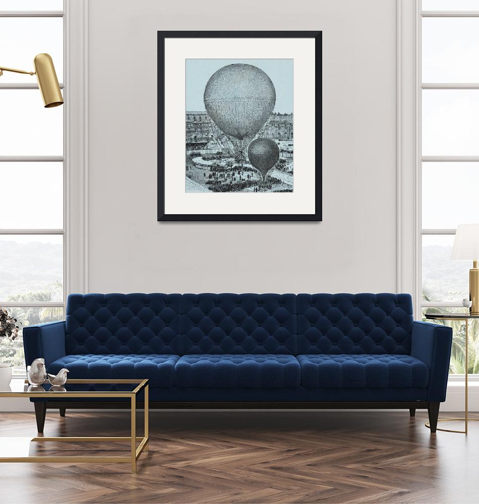 """""""Steam Balloon of the Tuileries Court by Gifford""""  by FineArtClassics"""