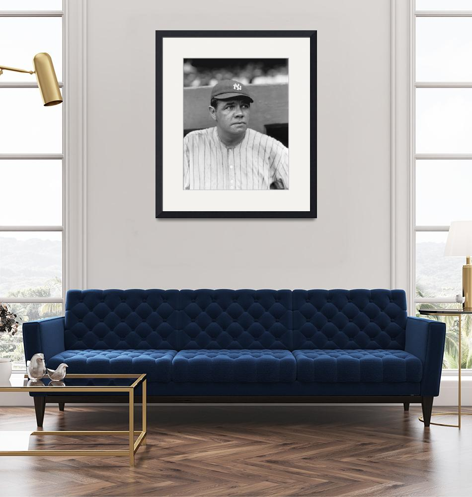 """""""George H. Babe Ruth"""" by RetroImagesArchive"""