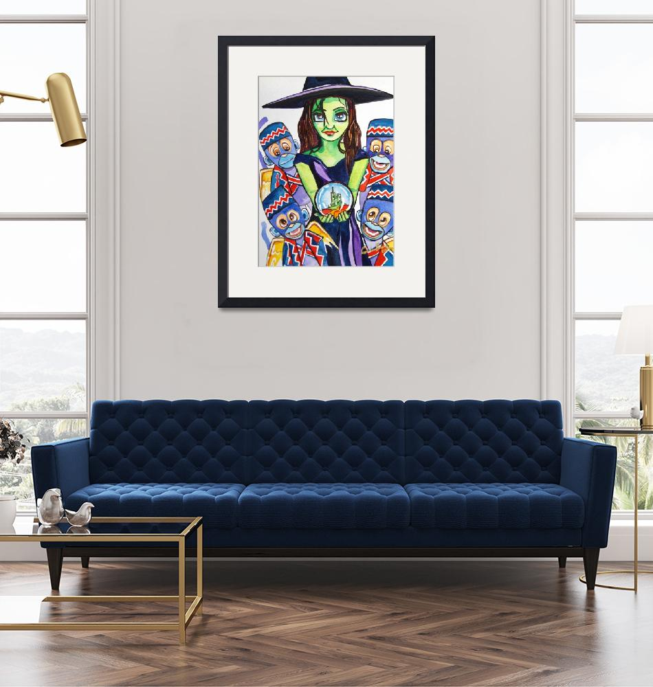 """""""Wicked witch wizard of oz painting By Gord"""" by GORDONBRUCEART"""