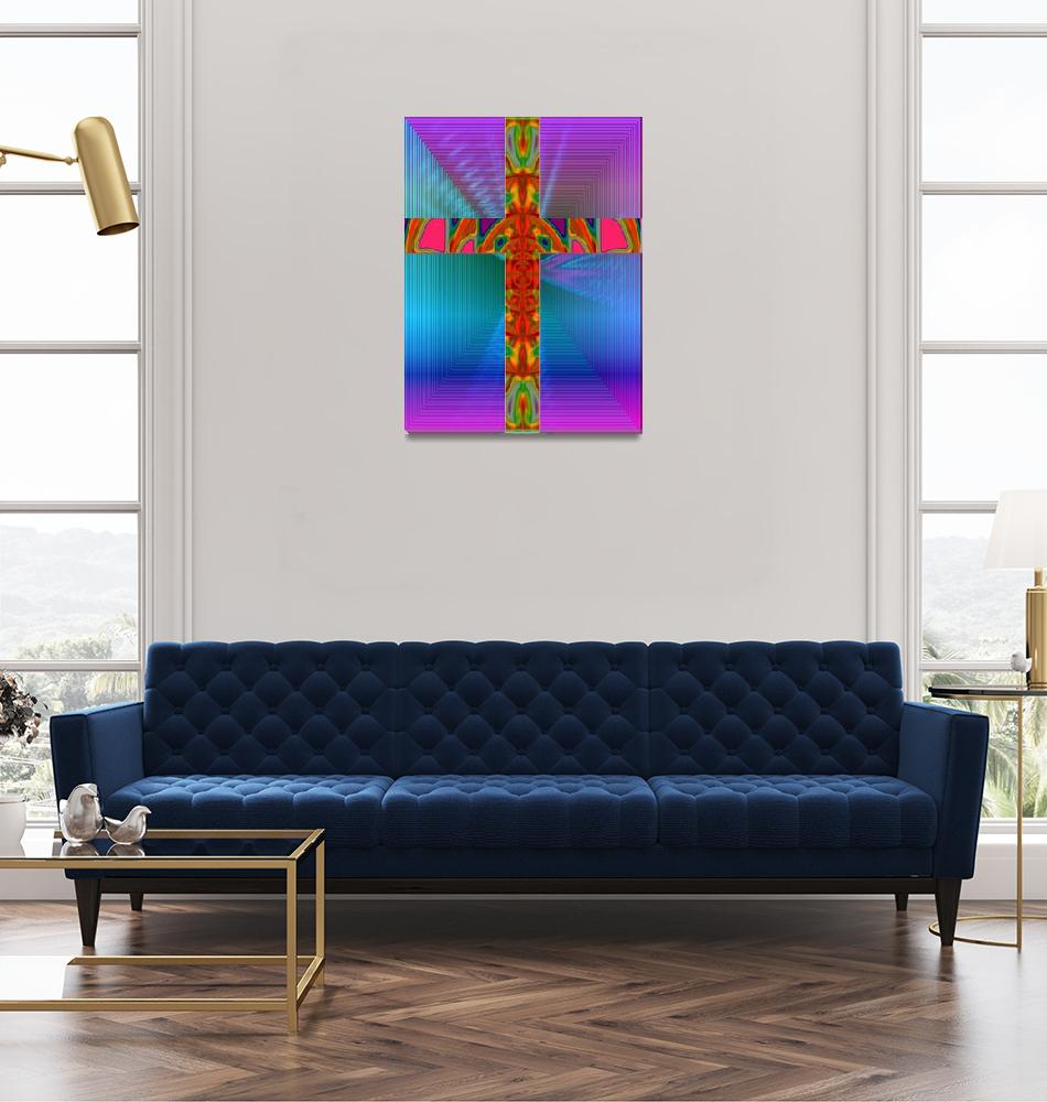 """""""Abstract Cross""""  (2008) by MichaelClydeEllis"""