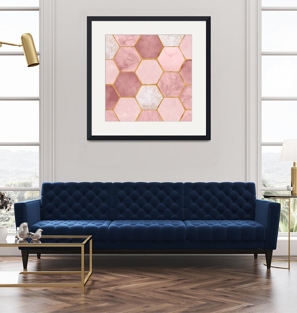 """""""Pink Geometric""""  (2018) by moderntropical"""
