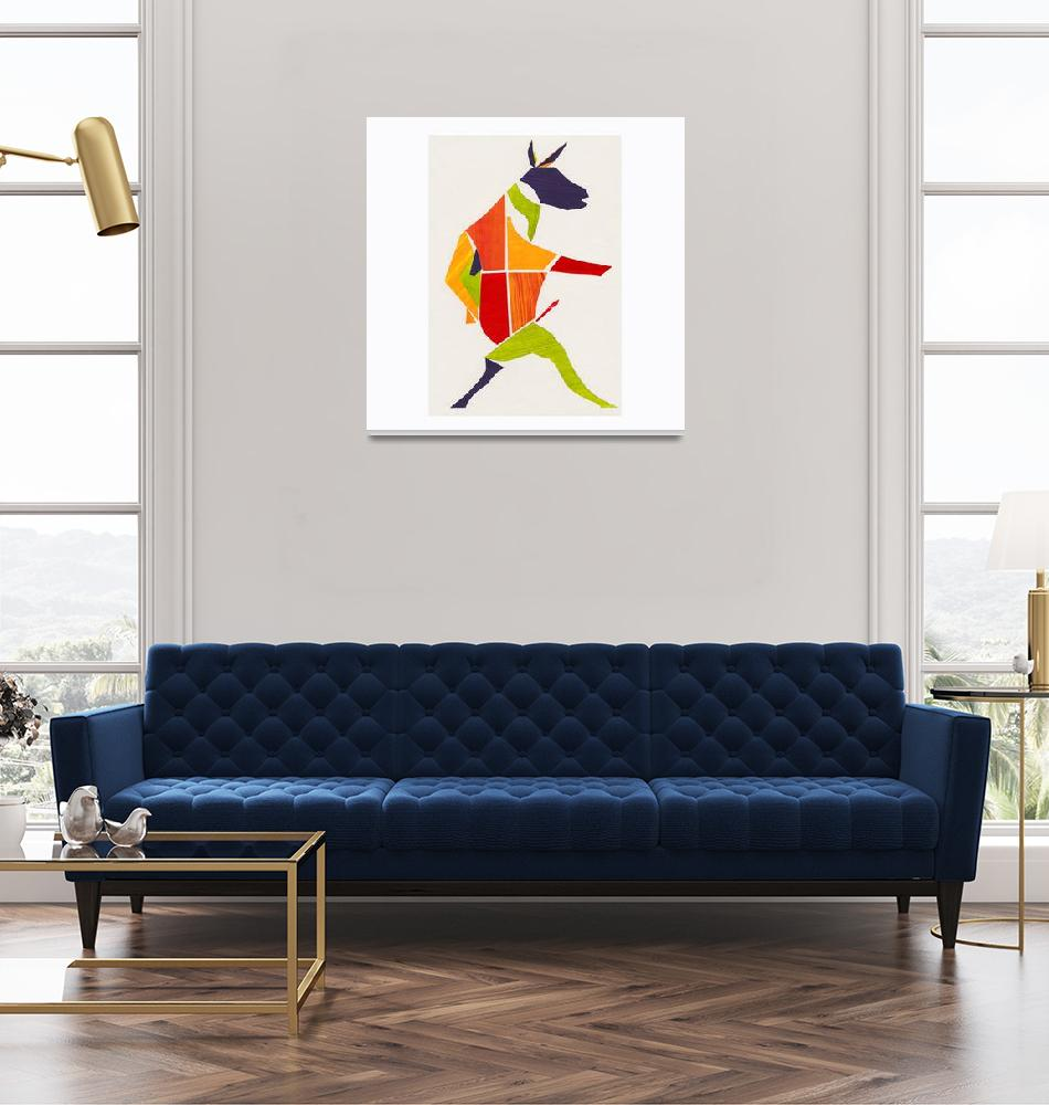 """""""Multi Coloured Dancing Donkey""""  (2011) by Tanus"""