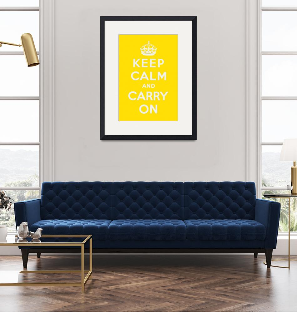 """Yellow Keep Calm And Carry On 1""  by oldies"