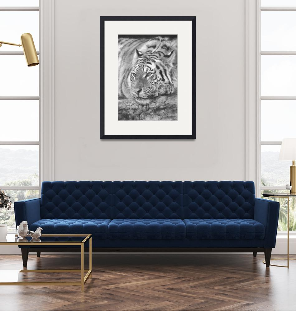 """""""Easy Tiger""""  (2018) by MightyFineArt"""