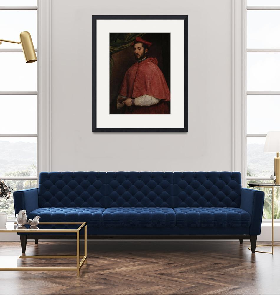 """""""Titian~Portrait of Cardinal Alessandro Farnese""""  by Old_master"""