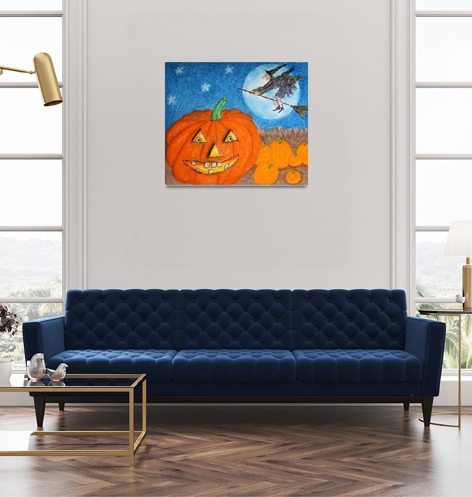 """Happy Halloween Boo You""  (2015) by KsWorldArt"