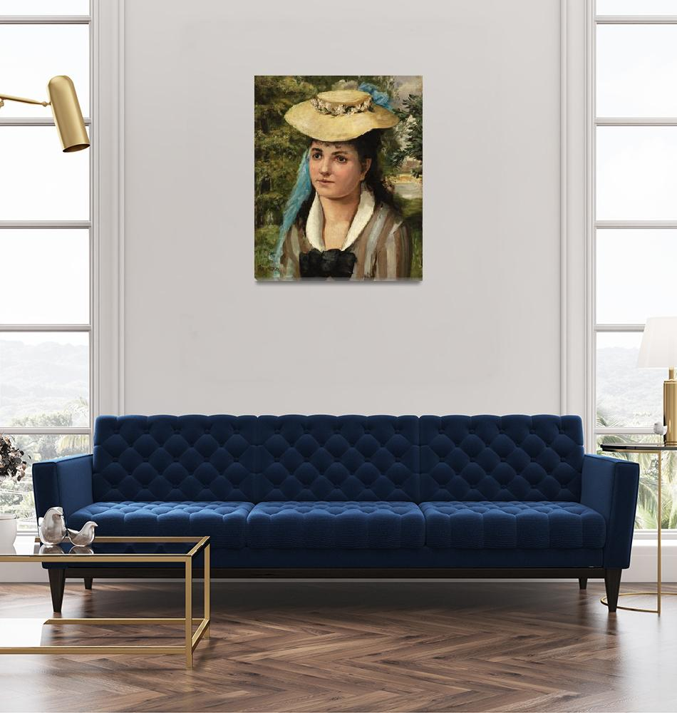 """Lise in a Straw Hat by Renoir""  by FineArtClassics"