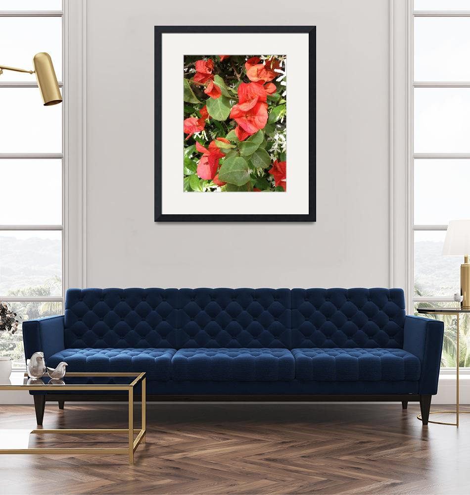 """""""Red flowers and leaves""""  (2013) by easyfigure"""