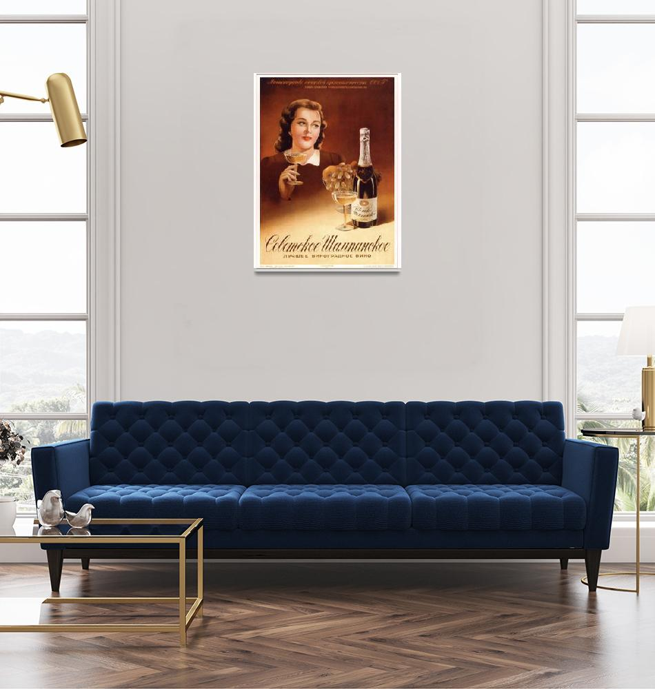"""Soviet champagne is the best grape wine""  (1953) by SovietArt"