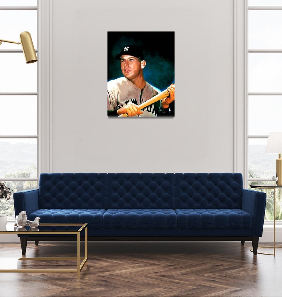 """Mickey Mantle New York Yankees by E. L. Vela""  (2012) by artofvela"