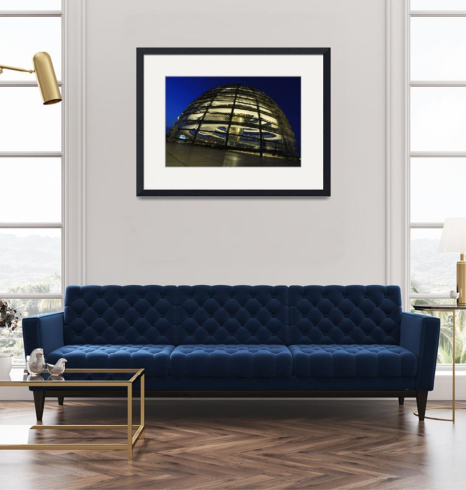 """""""Cupola of the German Reichstag in Berlin""""  (2008) by Irudi"""