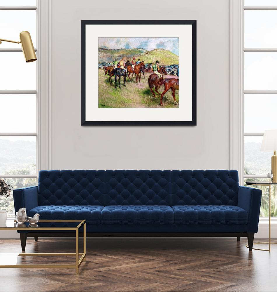 """""""Before the Race, c.1893 (pastel)""""  by fineartmasters"""