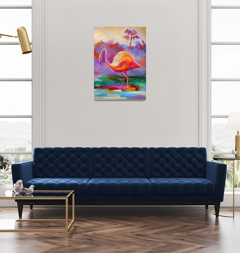 """Flamingo Bird""  (2011) by painterflipper"