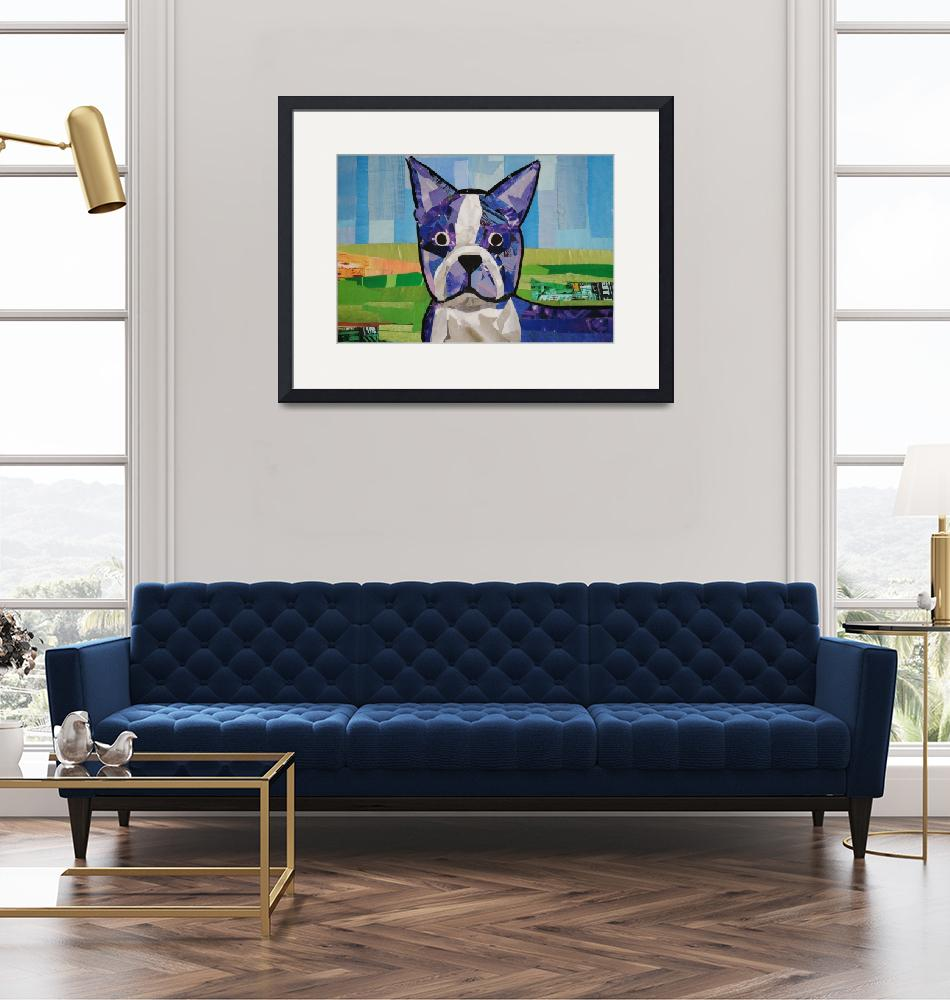 """Boston Terrier""  (2009) by megancoyle"