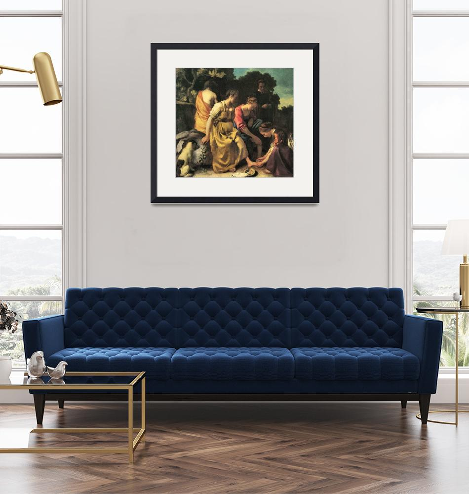 """""""Diana and Her Nymphs by Vermeer""""  by ArtLoversOnline"""