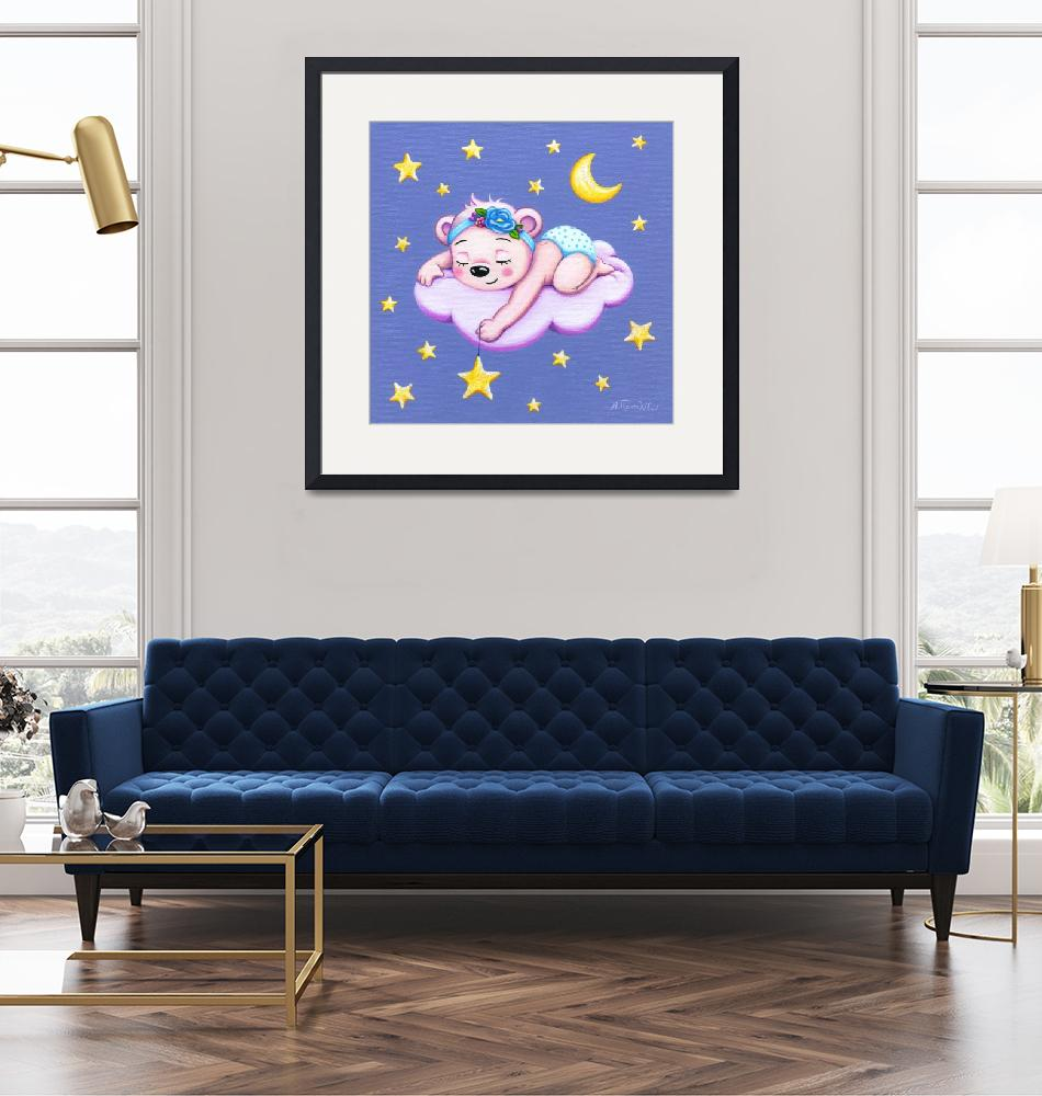 """Sleeping Bear, nursery room decor""  (2018) by nopiepan"