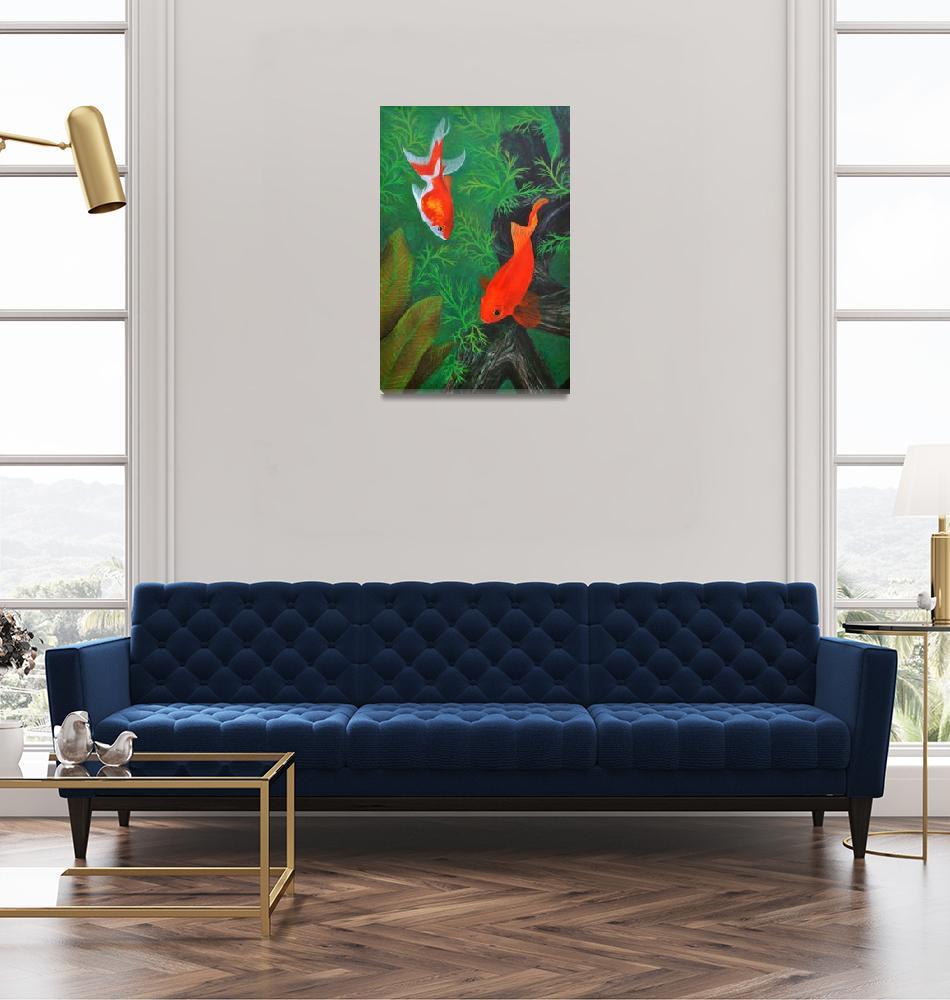 """Henry II & the Fantail Goldfish""  (2012) by evansonart"