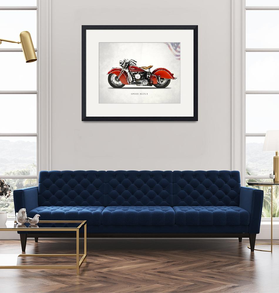 """""""The 1940 Indian Sport Scout"""" by mark-rogan"""