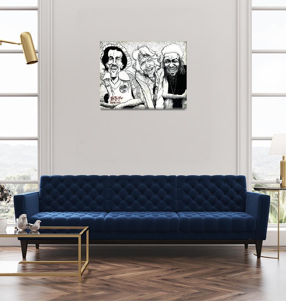 """Three Musicmans Bob Marley Mick Jagger Peter Tosh""  (2011) by Ebenlo"