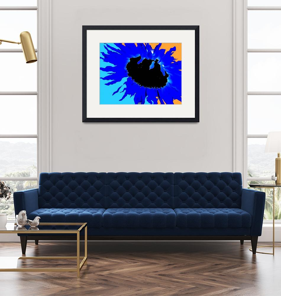 """sunflower in blue""  (2006) by rottlig"