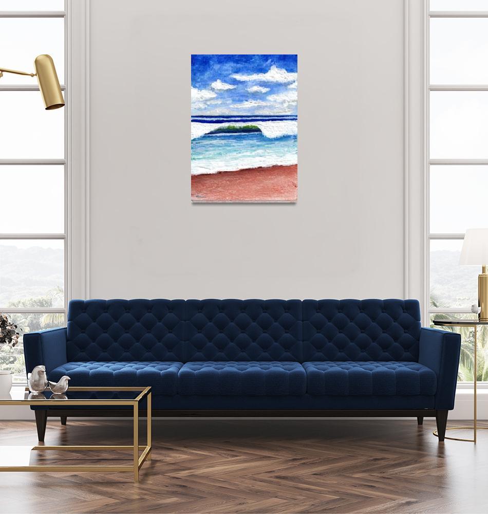 """Seascape Painting Treasure Coast Florida D1""  (2016) by Ricardos"