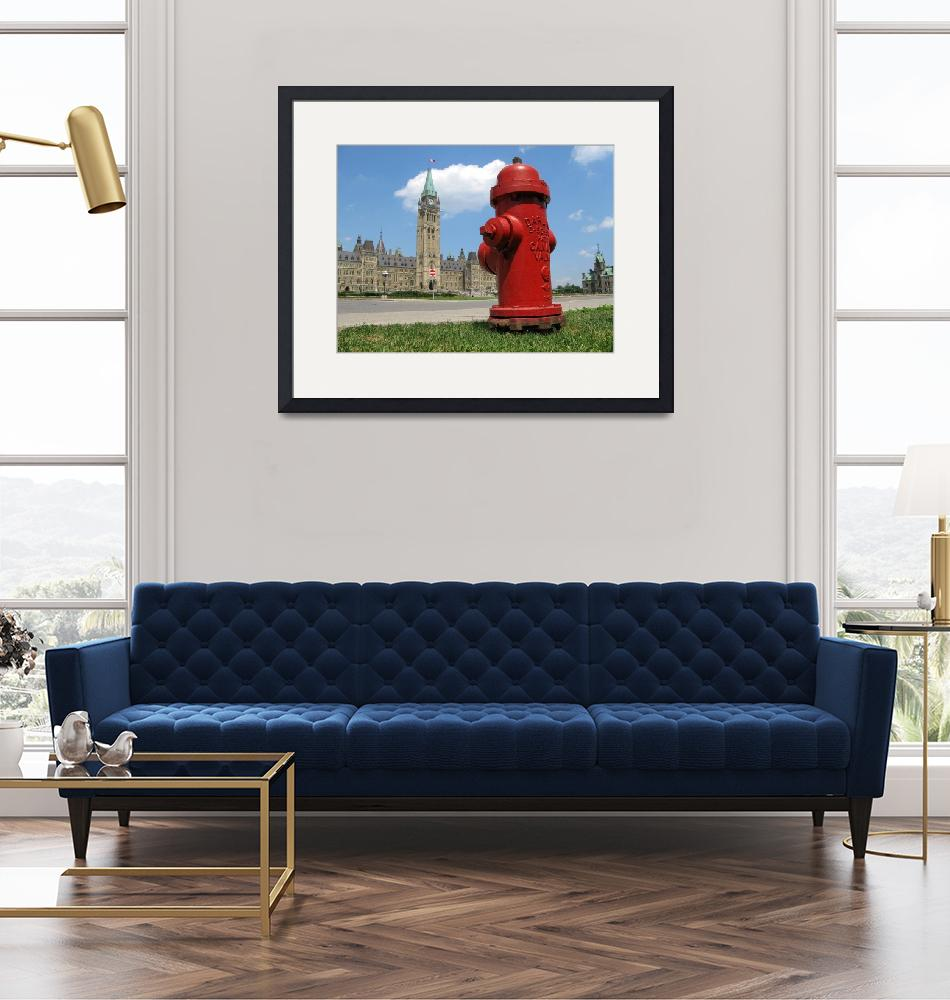 """Fire Hydrant on the Parliament Hill""  (2007) by andreifilippov"