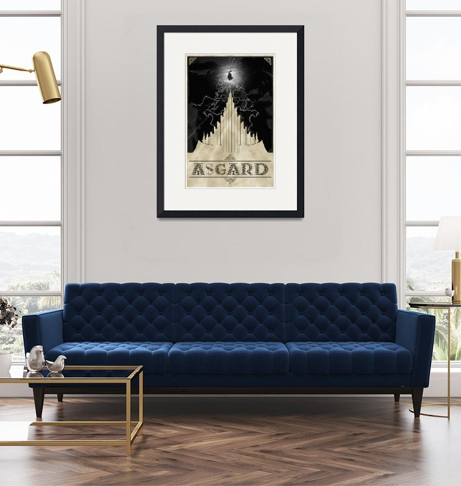 """""""Thor - Watching over Asgard""""  (2011) by eatenbyrobots"""