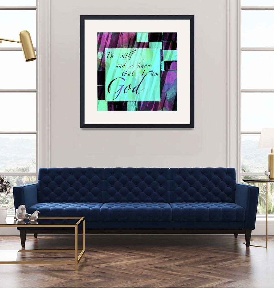 """""""be still color block teal and purple""""  by lizmix"""